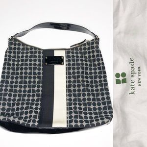 Kate Spade Black/Cream Shoulder Bag like new